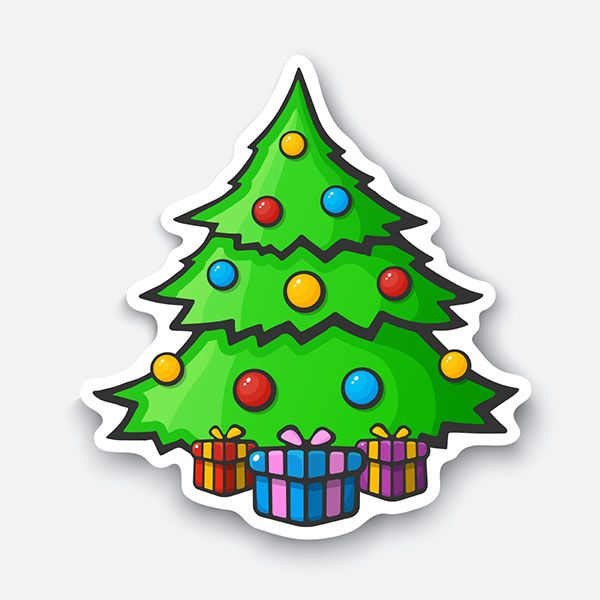 Christmas Tree Sticker | Decals.com