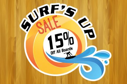 Surfs Up Sale Floor Decal