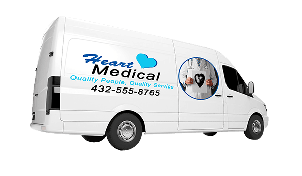 Heart Medical truck decal | Decals.com
